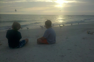 Watching the sunrise at Anna Maria Island Inn.