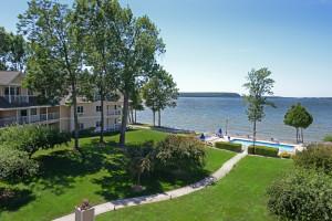 Lake view at Westwood Shores Waterfront Resort.