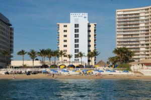 Exterior view of Ocean Sky Hotel & Resort.