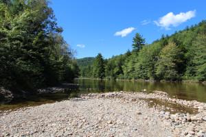 View of river at Attitash Mountain Village Resort.