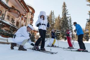 Skiing at Hotel de Charme Les Airelles.