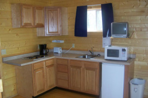 Cabin Kitchen at Baraboo Hills Campground