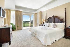 Rental bedroom at Reunion Vacation Homes.