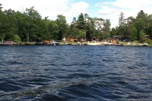 Lake view at Glenwood Lodge.