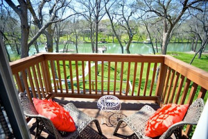 Rental deck at Vacation New Braunfels.