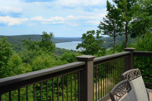 Rental balcony view at Railey Mountain Lake Vacations.
