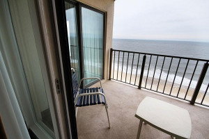 Guest balcony at Marigot Beach Suites.