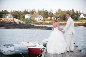 Wedding couple at Newagen Seaside Inn.