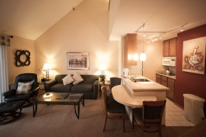 Guest suite at The Cove of Lake Geneva.