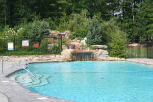 Outdoor pool at Highland Rim Retreats.
