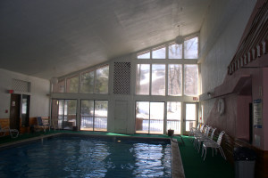 Indoor pool at Cascades Lodge.