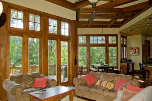 Rental living room at Ashe High Country Vacations LLC.