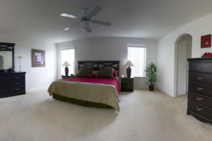 Vacation rental bedroom at Orlando Sunshine Villas.