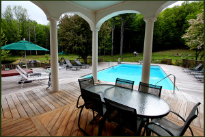 Pool Area at Enchanted Manor of Woodstock