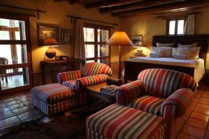 Guest room at Cibolo Creek Ranch.