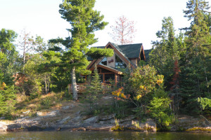 Cabin exterior at Northern Lights Resort Outfitting & Youth Quest.