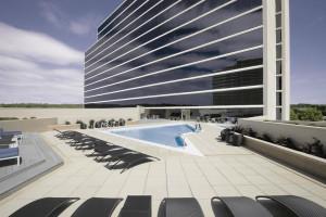 Outdoor pool at Hyatt Regency Birmingham - The Wynfrey Hotel.
