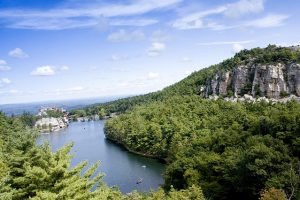 Beautiful mountain views at Mohonk Mountain House.