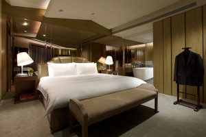 Guest room at The Landis Taipei.