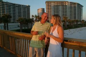 Couple at Silver Shells Beach Resort & Spa.