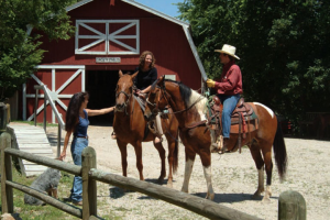 Horseback riding at Tan-Tar-A Resort.