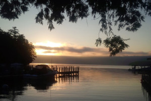 Sunset at Twin Bay Village.
