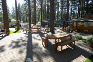 Patio area at Heavenly Valley Lodge.