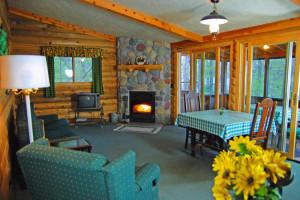 Lodge interior at Northland Lodge.