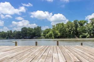 Dock at Sons Island at Lake Placid.
