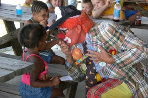 Clowning around at Wilderness Presidential Resorts.