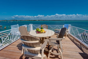 Rental patio at Anna Maria Vacations.