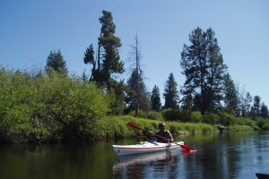 Kayak, canoe or float the Little Deschutes River from many public access points near DiamondStone Guest Lodges.