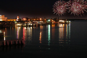 Fireworks near Tropic Terrace Resort.