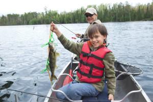 Fishing at Sand Lake Resort.