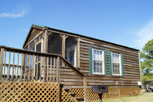 Cabin exterior at Lone Star Yogi.