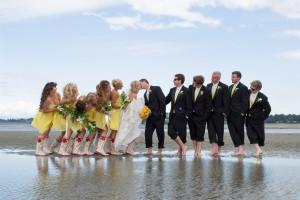 Beach wedding at Tigh-Na-Mara Resort.