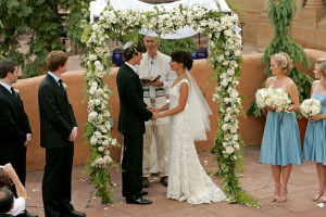 Wedding Ceremony at La Fonda on the Plaza