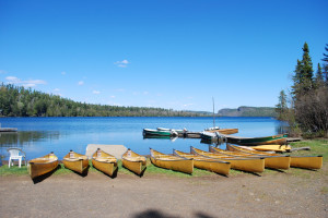 Canoe rental at Clearwater Historic Lodge.
