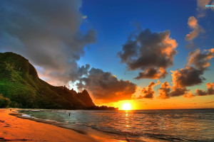 The beach at Kauai Calls!