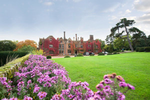 Exterior view of Seckford Hall Hotel.