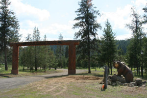 Entrance to Bear Creek Lodge.
