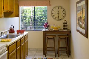 Suite kitchen at Glorietta Bay Inn.