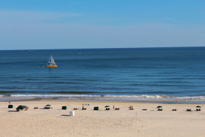 The beach at Gulf Coast Beach Getaways.