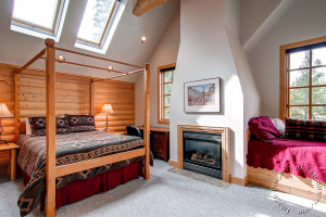 Vacation rental bedroom at Ski Country Resorts.