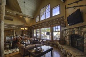 Rental living room at Big Sky Vacation Rentals.