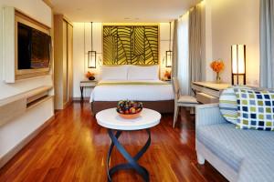 Guest room at Amari Palm Reef Resort.