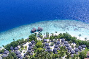 Aerial view of Bandos Island Resort.
