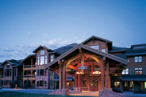 Exterior view of Lodges at Deer Valley.