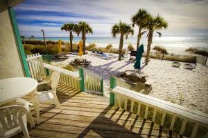 Beach view at Sandpiper Beacon Beach Resort.