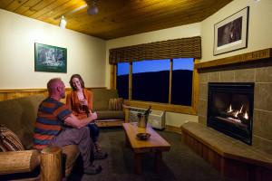 Couple at Eagle Ridge at Lutsen Mountains.